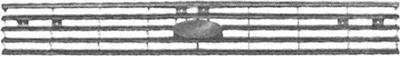 Grille de radiateur - VAN WEZEL - 1833514