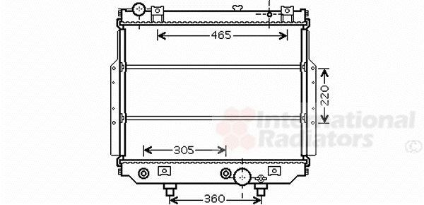 Radiateur, refroidissement du moteur - VAN WEZEL - 21002038