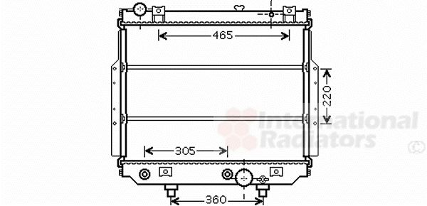 Radiateur, refroidissement du moteur - VWA - 88VWA21002038