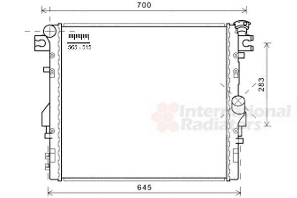 Radiateur, refroidissement du moteur - VAN WEZEL - 21002052