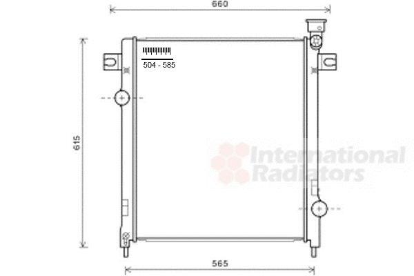 Radiateur, refroidissement du moteur - VAN WEZEL - 21002053