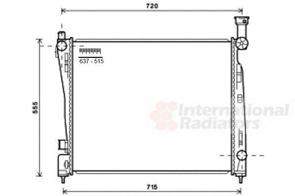 Radiateur, refroidissement du moteur - VAN WEZEL - 21002054