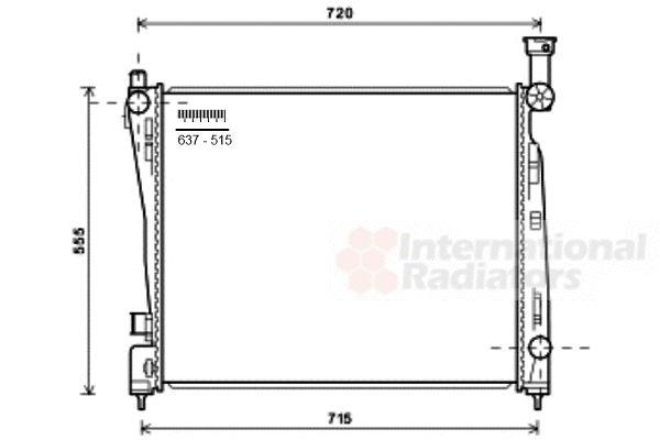Radiateur, refroidissement du moteur - VAN WEZEL - 21002055
