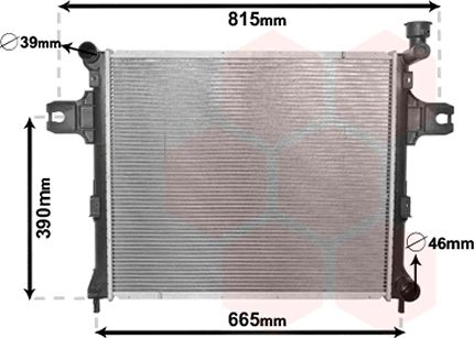 Radiateur, refroidissement du moteur - VAN WEZEL - 21002059