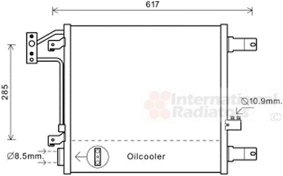 Condenseur, climatisation - VAN WEZEL - 21005057