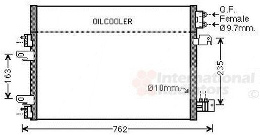 Condenseur, climatisation - VAN WEZEL - 21005060