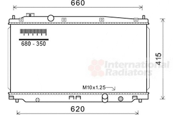 Radiateur, refroidissement du moteur - VAN WEZEL - 25002253