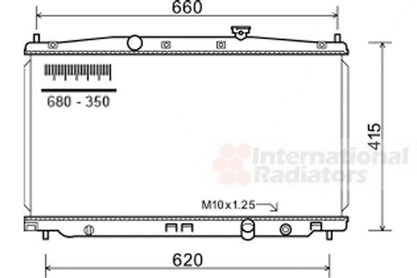 Radiateur, refroidissement du moteur - VAN WEZEL - 25002255