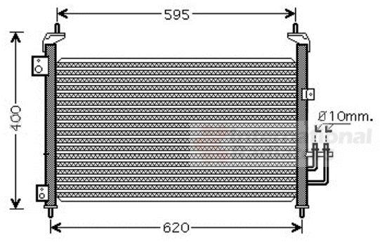 Condenseur, climatisation - VAN WEZEL - 25005213