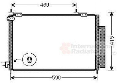 Condenseur, climatisation - VAN WEZEL - 25005242