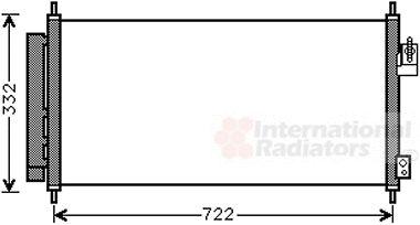 Condenseur, climatisation - VAN WEZEL - 25005248