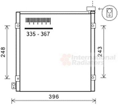 Condenseur, climatisation - VAN WEZEL - 25005249