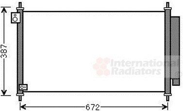Condenseur, climatisation - VAN WEZEL - 25005276