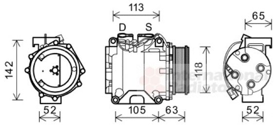 Compresseur, climatisation - VWA - 88VWA2500K238