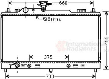 Radiateur, refroidissement du moteur - VAN WEZEL - 27002223