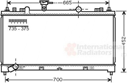 Radiateur, refroidissement du moteur - VAN WEZEL - 27002226