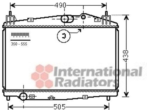 Radiateur, refroidissement du moteur - VAN WEZEL - 27002229
