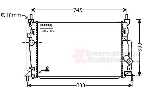 Radiateur, refroidissement du moteur - VAN WEZEL - 27002246