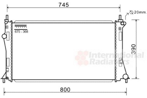 Radiateur, refroidissement du moteur - VAN WEZEL - 27002249