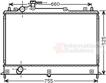 Radiateur, refroidissement du moteur - VAN WEZEL - 27002255