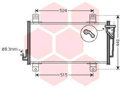 Condenseur, climatisation - VAN WEZEL - 27005231
