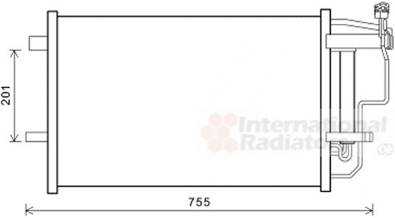 Condenseur, climatisation - VAN WEZEL - 27005242