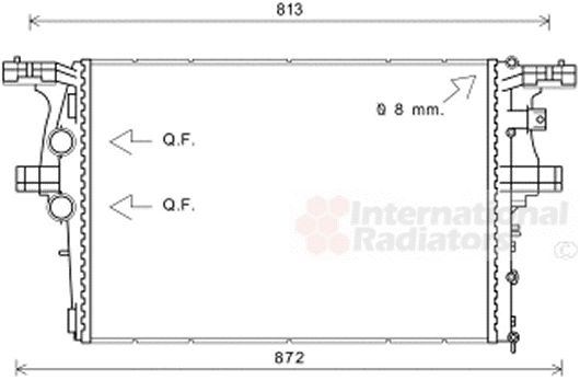 Radiateur, refroidissement du moteur - VWA - 88VWA28002126