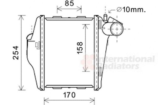 Intercooler, échangeur - VAN WEZEL - 29004015