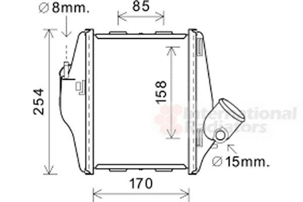 Intercooler, échangeur - VAN WEZEL - 29004016