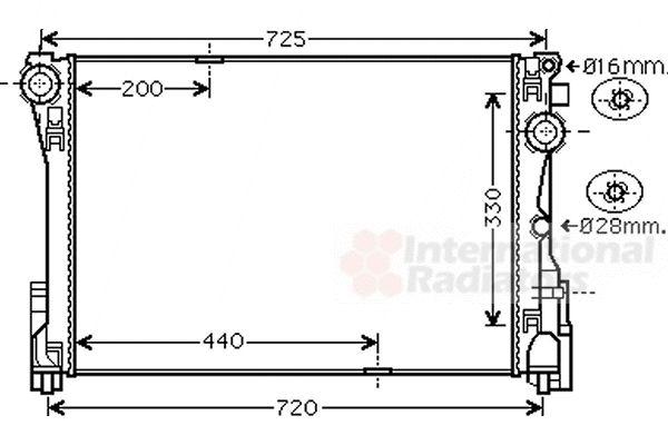 Radiateur, refroidissement du moteur - VAN WEZEL - 30002575
