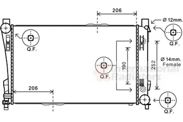 Radiateur, refroidissement du moteur - VAN WEZEL - 30002589