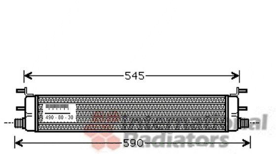 Radiateur d'huile - VAN WEZEL - 30003398