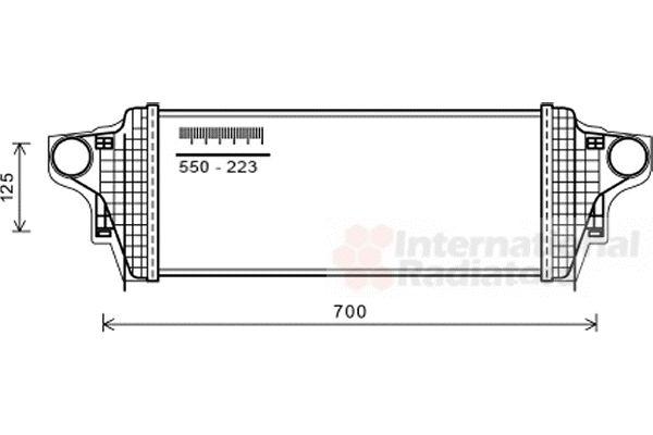 Intercooler, échangeur - VAN WEZEL - 30004551