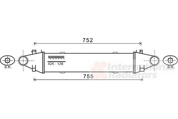 Intercooler, échangeur - VAN WEZEL - 30004556