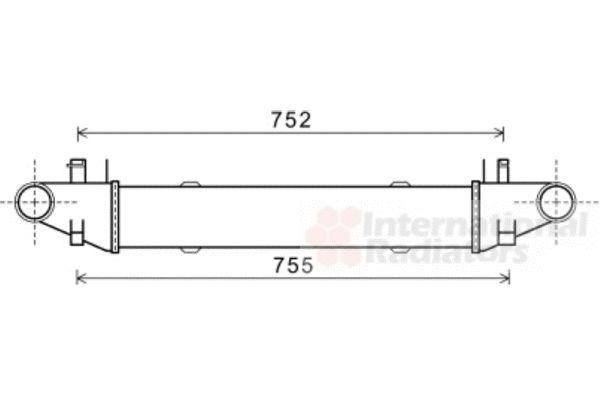 Intercooler, échangeur - VAN WEZEL - 30004557