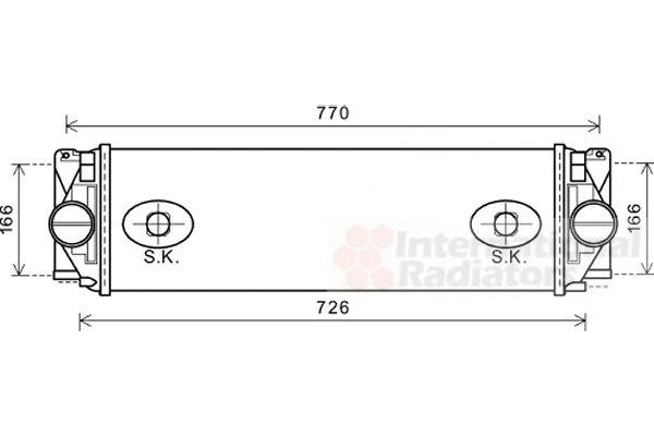 Intercooler, échangeur - VAN WEZEL - 30004582