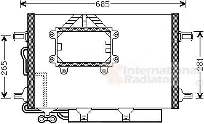 Condenseur, climatisation - VAN WEZEL - 30005562