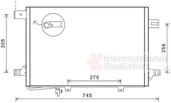 Condenseur, climatisation - VAN WEZEL - 30005572