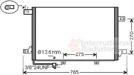 Condenseur, climatisation - VAN WEZEL - 30005579