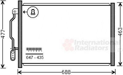 Condenseur, climatisation - VAN WEZEL - 30005605