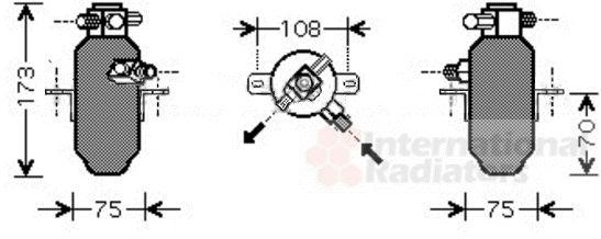 Filtre déshydratant, climatisation - VAN WEZEL - 3000D374