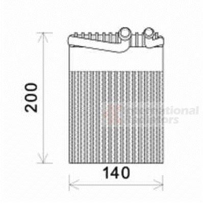 Evaporateur climatisation - VAN WEZEL - 3000V554