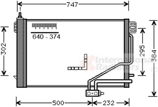 Condenseur, climatisation - VAN WEZEL - 30015298