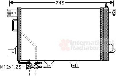 Condenseur, climatisation - VAN WEZEL - 30015360
