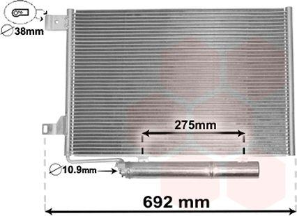 Condenseur, climatisation - VAN WEZEL - 30015386