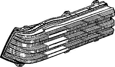 Feu arrière - VAN WEZEL - 3010921