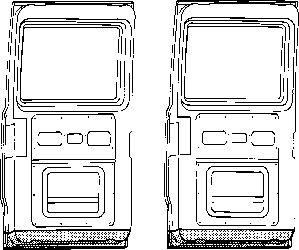 Porte arrière - VAN WEZEL - 3050249
