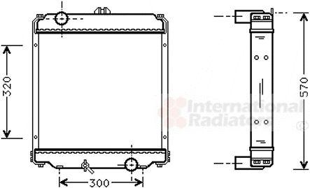 Radiateur, refroidissement du moteur - VAN WEZEL - 32002071
