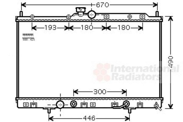 Radiateur, refroidissement du moteur - VAN WEZEL - 32002230