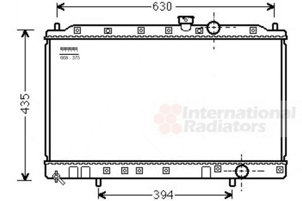 Radiateur, refroidissement du moteur - VAN WEZEL - 32002237
